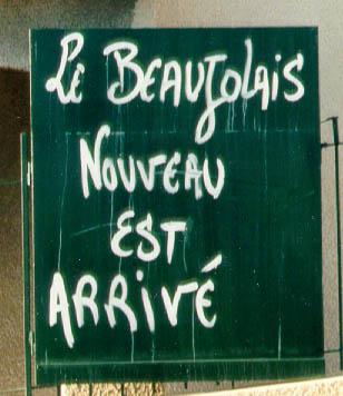 Le Beaujolais nouveau est arrivé paris france 2012 wine