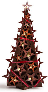arbre celeste la maison du chocolat france celestial tree paris european chocolate christmas star christmas 2012
