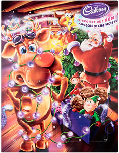 Cadbury Advent Calendar Chocolate UK England Great Britain Chocolate Christmas Christmas Chocolate Calendar