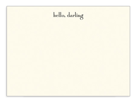 "Dempsey & Carroll ""Hello Darling"" Card is on PatriciaParisienne's Christmas Wish List!"