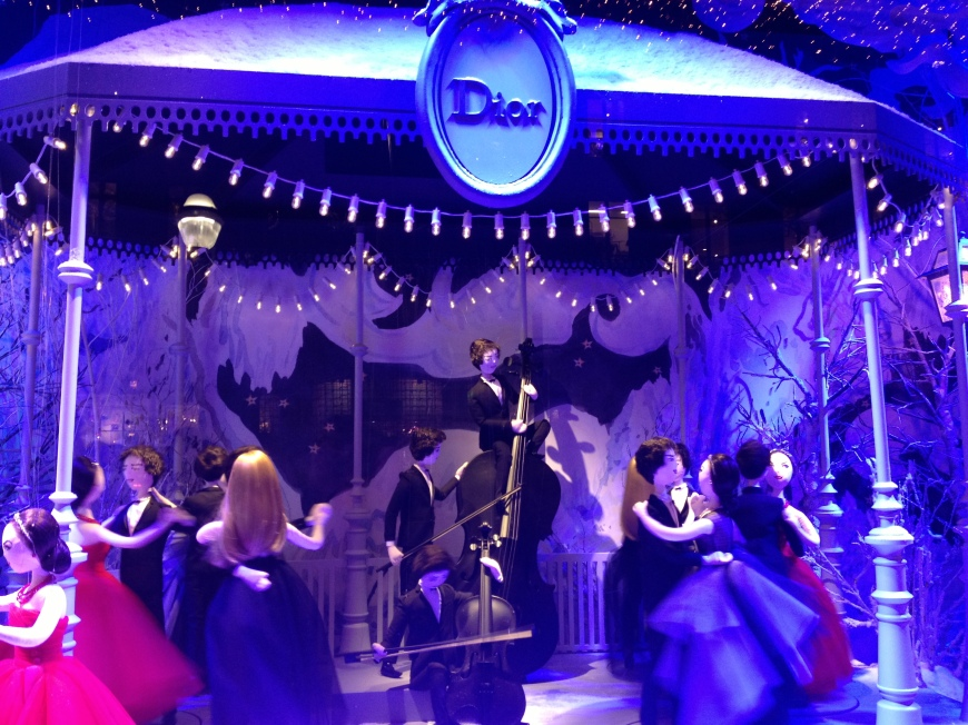 dior ball printemps 2012 vitrines window displays paris department store haussmann
