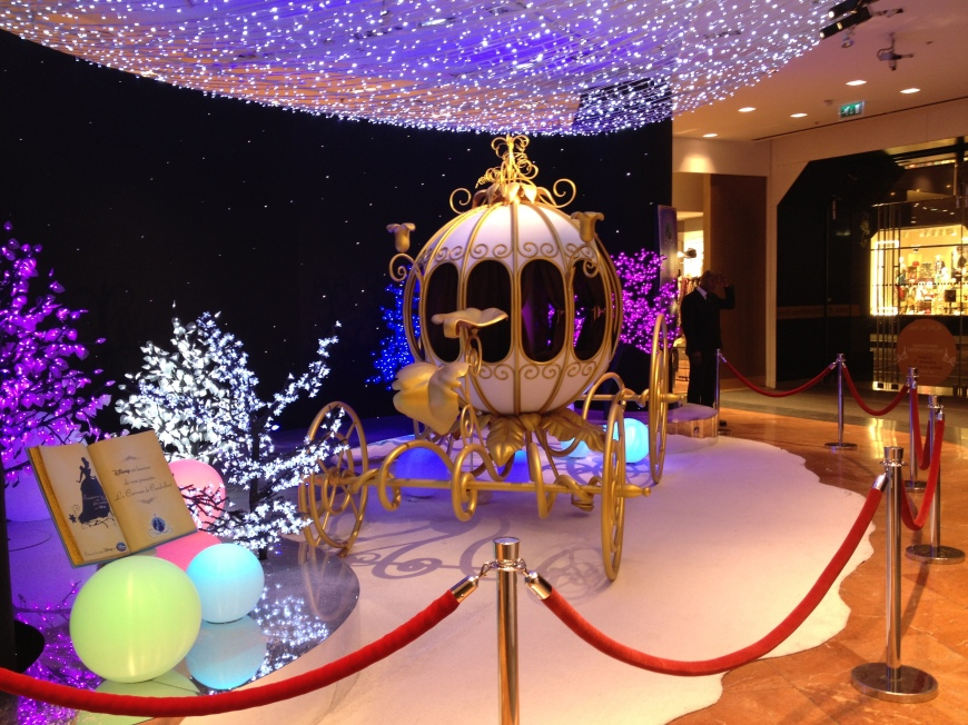 Galeries Lafayette Disney Carriage christmas paris noel 2012 vitrines