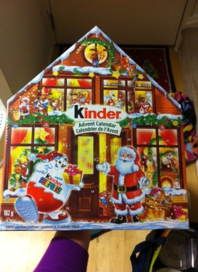 kinder advent calendar chocolate kinder christmas chocolate calendar 2012