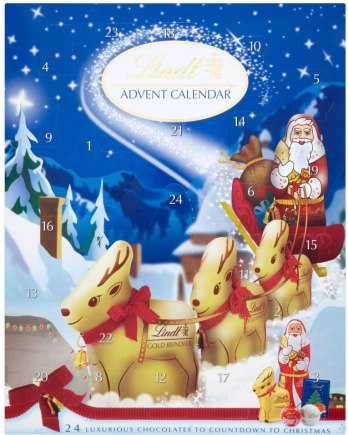 Lindt Advent Calendar chocolate european chocolate calendar christmas 2012