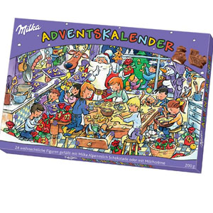milka advent calendar christmas chocolate calendar european chocolate christmas 2012