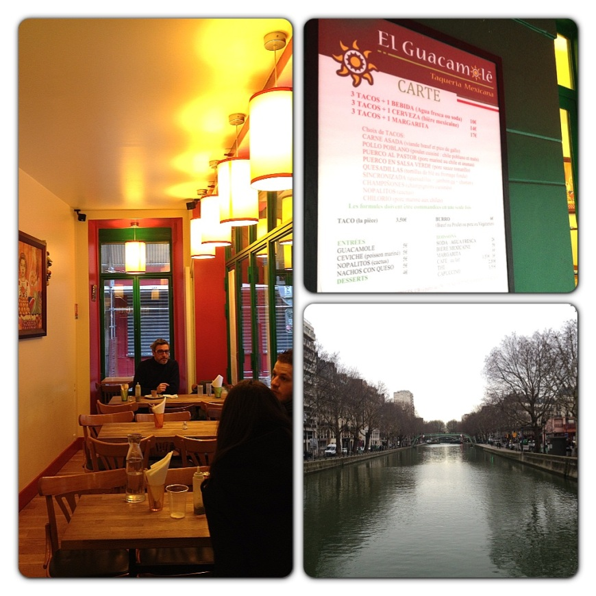 El Guacamole restaurant in Paris canal st martin canal saint martin 10e arrondissement 10th arrondissement paris mexican restaurants restaurant mexicain taco horchata tortilla paris