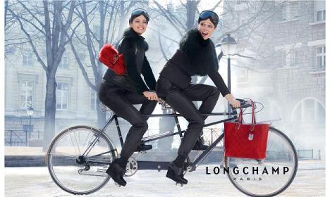 Longchamp pub ad pliable bag