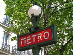 Paris Metro Sign Blog