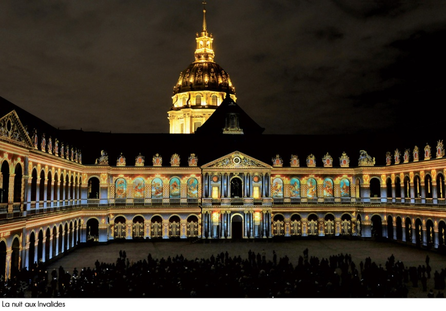 la nuit aux invalides hotel des invalides paris spectacle light and sound show