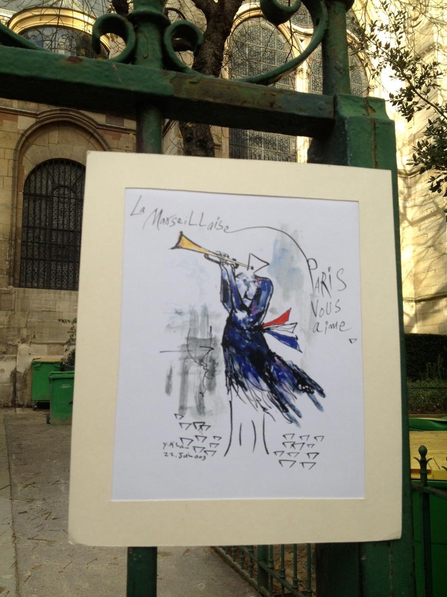 paris Église de Saint-Germain-des-Prés paris je t'aime paris vous aime marseillaise