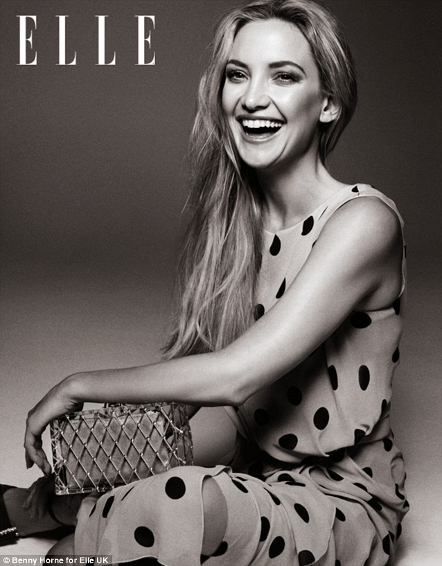 kate hudson elle uk cover nina ricci polka dot dress 2013