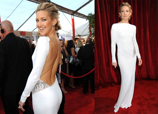 kate hudson white pucci dress 2010 sag awards screen actors guild los angeles california