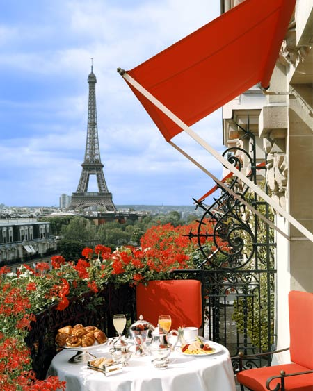 view from the plaza athenee