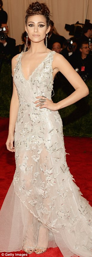 emmy rossum Donna karan met gala 2013 new york city