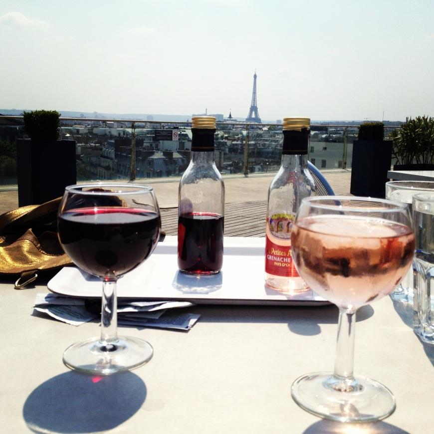 terrasse printemps mode beaute terrace rooftop view of paris patriciaparisienne wine eiffel tower tour eiffel where is the best view in paris