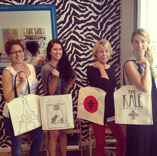 The four of us with our finished products. Thank you, Kasia!  Image credit: Kasia Dietz Instagram (@kasiainparis)