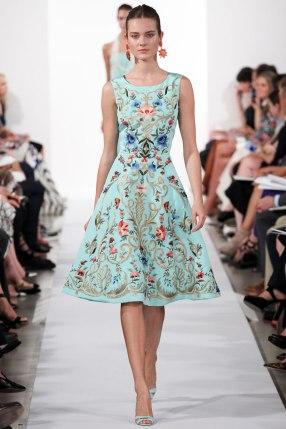 oscar de la renta new york fashion week spring/summer 2014 collection
