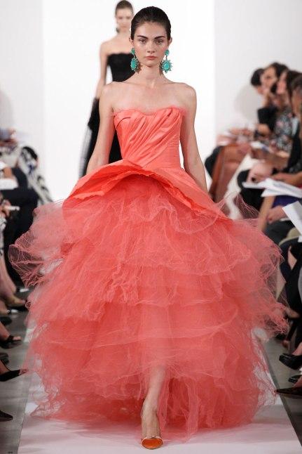 Oscar de la renta spring/summer 14 collection new york fashion week september 2013