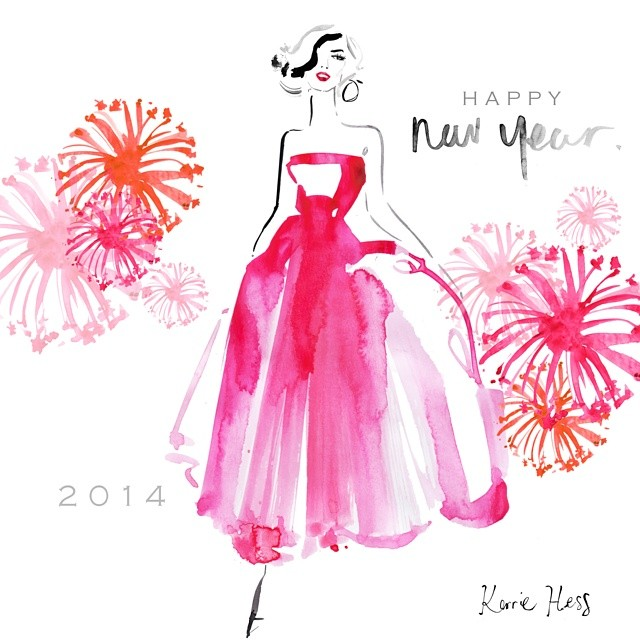 kerrie hess illustrations happy new year 2014