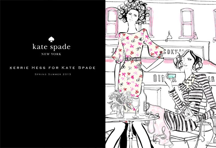 Kate Spade Campaign kerrie hess illustrations