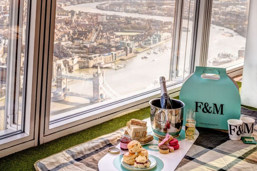 Fortnum Mason The View from the Shard Sky-High Tea picnic hampers london england summer travel UK patriciaparisienne